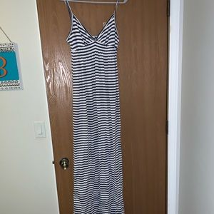 Striped maxi dress size medium